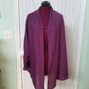 ELLEN TRACY  Purple Kimono Jacket